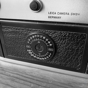 the exposure triangle - the ISO selector on a Leica M6