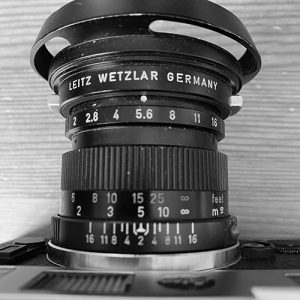 the exposure triangle - the aperture ring on a Summicron 50mm lens